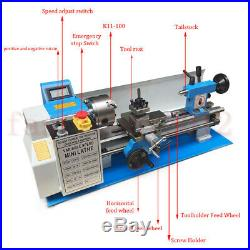 Upgrade 7x14 Mini Metal Lathe 550W Metal Iron Copper BenchTop Metric/Inch Gear