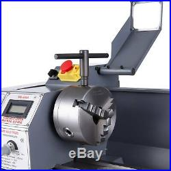 Upgraded 1.5HP 1100W DC 8.7 × 29.5 Mini Metal Lathe Bench Top Milling 5 Tools