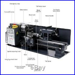 Upgraded 7 x 14Mini Metal Lathe Machine 550W Variable Speed 2250 RPM 3/4HP
