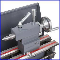 Upgraded 8 × 16 Mini Metal Lathe 1.5HP 2250RPM 9 Tools Brushless Motor 2 Chuck