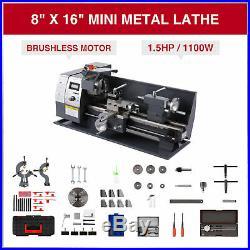 Upgraded Mini Metal Lathe 8 × 16 1100W Metal Gear Brushless Motor Full Sets