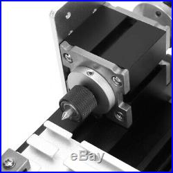 Upgraded Mini Metal Lathe Machine 24W Speed 20,000RPM/Min Z20002M New US
