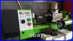 Used Sakai Mini Metal Lathe Motor Metalworking Milling, ML-360 Made in Japan
