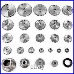 VEVOR 27PCS CJ0618 Mini Lathe Gears T33-T80 Metal Exchange Gear Lathe Machine