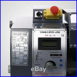 Variable-Speed Mini Metal Lathe Woodworking Tools With5 Turning Tools 8x14 600W