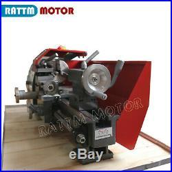 WM180V Mini Lathe Machine Wood Metal Lathe Turning Thread with 600W Spindle Hole