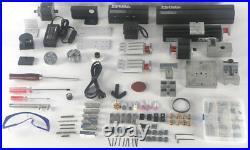ZHOUYU 24W Metal 7 In 1 Mini Metal Machine Kit DIY Power Tools Woodworking Lathe
