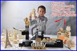 ZHOUYU 24W Mini Metal Lathe DIY Woodworking power Tool Student Modelmaking hobby